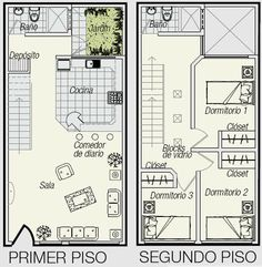 PLANOS DE TRIPLEX PLANOS DE MINIDEPARTAMENTO DE 3 PISOS EN 50M2 : PLANOS DE CASAS GRATIS Y DEPARTAMENTOS EN VENTA