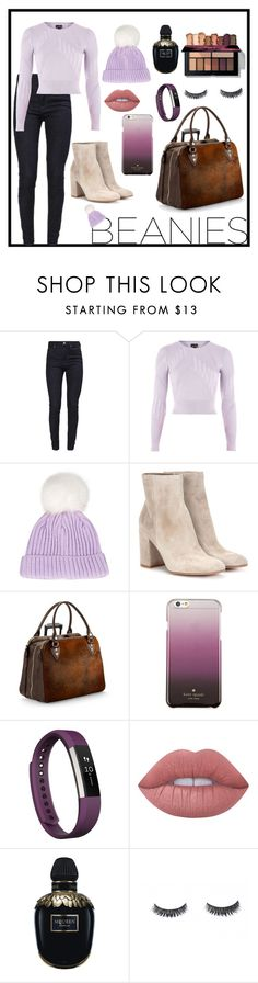 """""""Benies"""" by hannah-cassens ❤ liked on Polyvore featuring Calvin Klein, Topshop, Gianvito Rossi, Aspinal of London, Kate Spade, Fitbit, Lime Crime and Alexander McQueen"""