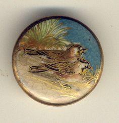 Antique Vintage Satsuma Button Birds | eBay