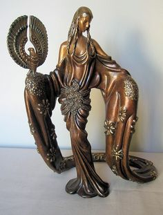 "Bronze Sculpture ""Wisdom"" by Erte'"