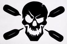 Skull Oars Kayak Funny Truck Window Boat Vinyl Decal Sticker 12 COLORS #VinylDecalSticker