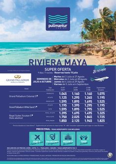 Super Oferta Riviera Maya Cadena Palladium - http://zocotours.com/super-oferta-riviera-maya-cadena-palladium/