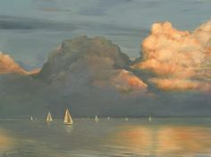 "Saatchi Online Artist Judith Harvey; Painting, ""Sailing Lake of Two Mountains"" #art"