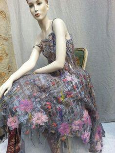 Felted dress by Beata Jarmolowska