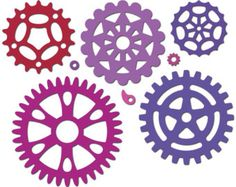 Cutting die for paper crafts, scrapbooking, card making, works in Sizzix™  Big Shot™, Spellbinders™ Grand Calibur™ & Cuttlebug™ Gears