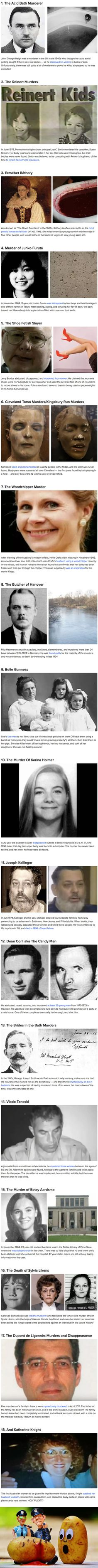 18 creepy murder cases will give you shivers down the spine