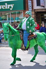 St. Patty's Day Green Horse