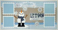 Winter Scrapbook Layout -- snowman