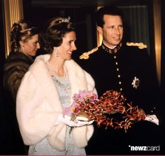 Queen Fabiola of Belgium and Belgian King Baudouin celebrate in 1976, the 25th anniversary of King Baudouin 's accession to the throne at the Royal Castle of Laeken, in Brussels. (Photo credit should read /AFP/Getty Images)