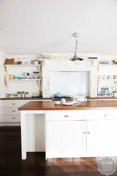Modern kitchens on pinterest kitchen modern island for Antique white usa kitchen cabinets