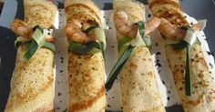 Seafood crepes with thermomix, thermomix shrimp crepes, thermom crepes . Crepes Rellenos, Crepes And Waffles, Griddle Cakes, Crepe Recipes, Cooking Recipes, Healthy Recipes, Breakfast Buffet, Portuguese Recipes, 30 Minute Meals