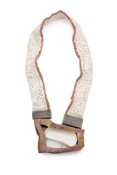 ANNA HELENA VAN DE POL DE DEUS-BRASIL   Necklace - Copper, Silver, Natural Pigment, Vintage Fabric, Wool 2010