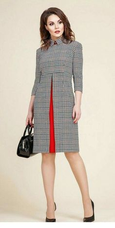 My kind of plaid dress is part of Fashion dresses - Popular Ladies African Fashion, Korean Fashion, Cute Dresses, Dresses For Work, Dresses Dresses, Dress Outfits, Work Fashion, Fashion Design, Fashion Fashion