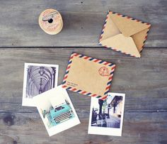 tiny little airmail envelopes and note sets from Oh Hello Friend