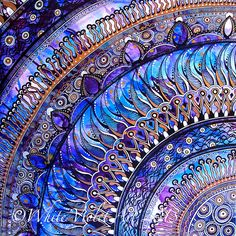 Very Violet Mandala by Cindy Belseth