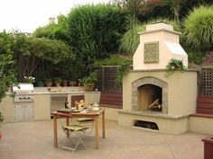 Outdoor Fireplace Landscaping Ideas   Large Outdoor FireplaceOutdoor FireplaceMichelle Derviss Landscape ...