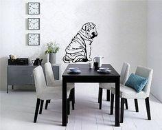 Sharpei Puppy Dog Wall Art Sticker Decal D-704