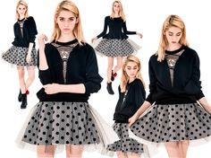 Queensly #dot #tulle #skirt - Fashion9shop.com