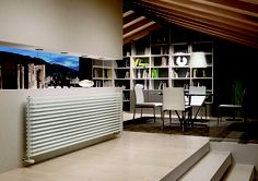 Sax Orizzontale è ideale per gli ambienti dalle linee architettoniche ricercate ed originali, dove la forma stessa del radiatore valorizza e personalizza l'ambiente. // Sax Horizontal is ideal for environments with architectural lines and original, where the shape of the radiator enhances and personalizes the environment