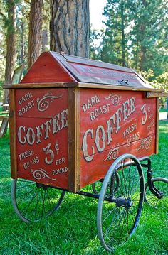 Vintage Coffee Cart - wish that price was still available :)