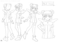Tokyo Mew Mew Settei (Model Sheet)Minto Battle Costume