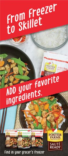 From freezer to skillet — quick and easy never tasted so good. Give Sauté Ready a try! http://www.fosterfarms.com/sauteready/