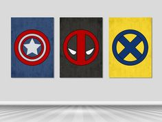 Poster Superhero / Poster Captain America /  Poster Dead Pool / Poster Wolverine / Captain America P
