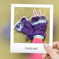 Faux leather rabbit fur wrist fingerless gloves Purple color Cute & warm gloves protect your hands from cold winter outdoor you can do activities freely especially when you surf the internet brand new tag on bag Price is firm unless you bundle  2 pairs available Accessories Gloves & Mittens