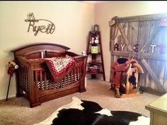western style for nursery.... LOVE the western theme. Similar to what I'm going to do for Aiden and Case's room.