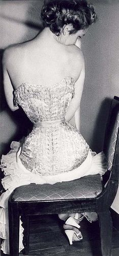 Tight corset  50's fashion by pollovf, via Flickr