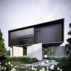 minimalism and architecture Library Architecture, Facade Architecture, Residential Architecture, Minimalist Architecture, Contemporary Architecture, Contemporary Design, Villa Design, Modern House Design, Design Design