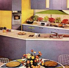 vintage mobile home kitchen