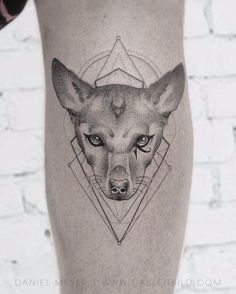 Adam Lambert       A tribute to Pharaoh on my calf--- tattoo by the BRILLIANT @dasleitbild . Thank you Daniel!