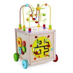 """Classic World Wooden Multi Activity Cube on Wheels - Classic World - Toys """"R"""" Us"""