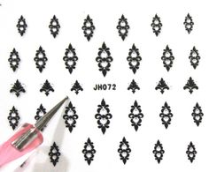 Buy 2 get 1 Free. 3d Black and Silver JH072 by tigerlilies on Etsy, $2.30