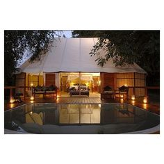 Luxury Sausage Tree Camp on the Zambezi River ❤ liked on Polyvore
