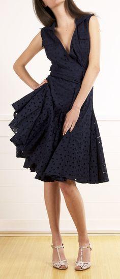 Such a cute little black summer dress! DIANE VON FURSTENBERG (DVF) @Michelle Flynn Flynn Coleman-HERS