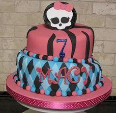 Monster high wonky cake
