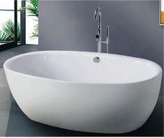Badekar - Oval 176XL - meget rummeligt fritstående badekar http://www.spacenteret.dk/product/oval-176xl-meget-rummeligt-fritstaaende-badekar-220/
