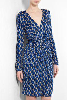 Twist Waist Geometric Print Dress by Issa