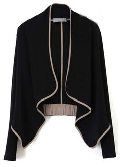 Autumn Essential Long Sleeve Black Cardigans for Woman