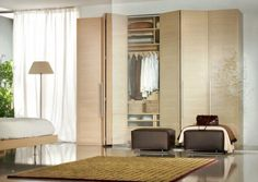 Hinged Door Wardrobe With Coffee Cubby Sofas As Well As White Low Profile Bed Also Yellow Rugs Design Ideas Plus White Curtain Design Ideas: Beautify Your Room with Modern Minimalist Wardrobe Designs