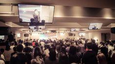 Pastor Liu Zijun of Taipei Revival Church taking over the service …