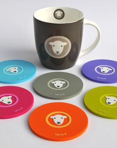 Herdy sheep mug & coasters
