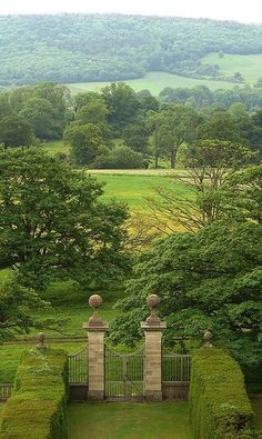 the scene from the manor. I love sitting here in the mornings, the views of the countryside are always so beautiful............