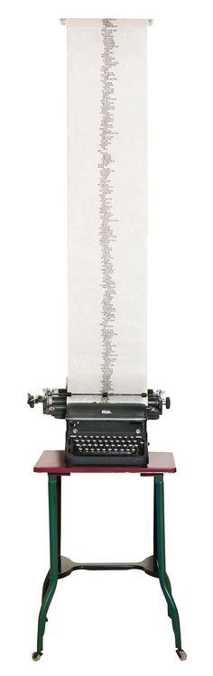 "Leandro Katz, ""Word Column IV: Puno | Altamira"" (ca. 1971) (courtesy of the Sackner Archive of Concrete and Visual Poetry, © 2015 Leandro Katz)"