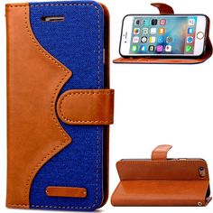 Luxury Retro Cowboy Leather Case For Apple iphone 6 6s  Flip Stand Cover Phone cases  Pouch Wallet Handbag For iphone 6 6s Plus