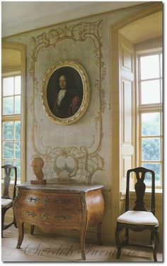Rococo Decorations Regnaholm Manor House Sweden Judith Miller's Colors