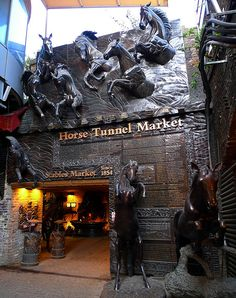 Horse Tunnel Market - Camden, London. Part of The Return of the Witch is set here in the ancient tunnels beneath the city streets. (Repinned from Maroba)