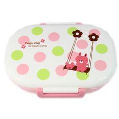 Happy Step mini Bento Box ~ Pink Rabbit